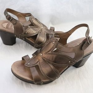 Dansko Nina Brown Leather Sandals Sz 42